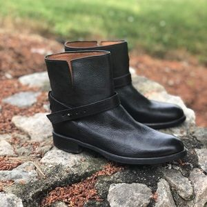 Madewell Black Leather The Biker Ankle Boot